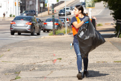 September 18, 2021: Sen. Cappelletti organized a Saturday morning clean-up of West Main Street in Norristown near her district office. Volunteers picked up litter, swept sidewalks and parking lots, weeded flower beds and hauled away more than two dozen bags of trash.