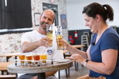August 27, 2021: Sen. Amanda Cappelletti tours the von C Brewing Company