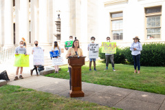 August 26, 2021: Senators Cappelletti and Kearney  held a rally in front of the Delaware County Courthouse in Media with We the People and  For Our Future to call for release of idled American Rescue Plan Funds to help the vulnerable and rebuild the economy.