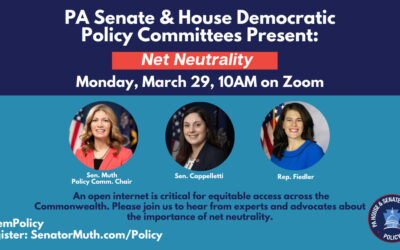 PA Senate Democrats to Join House Democrats for Net Neutrality Policy Hearing