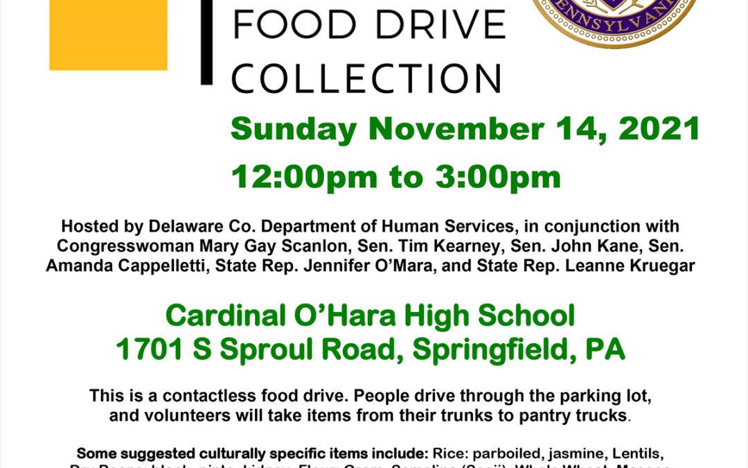 Drive Thru Food Drive Collection